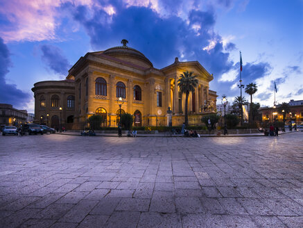 Italy, Sicily, Palermo, Teatro Massimo at Piazza Verdi - AMF002879