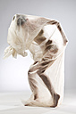 Naked woman wrapped in foil - MAEF009176