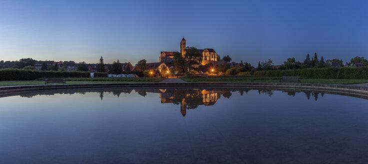 Germany, Saxony-Anhalt, Quedlinburg, Quedlinburg Abbey in the evening - PVCF000110