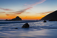 USA, California, Pacific Coast, National Scenic Byway, Big Sur, Pfeiffer Big Sur State Park, Sunset - FO007260