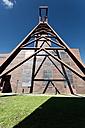 Germany, North Rhine-Westphalia, Essen, Zollverein Coal Mine Industrial Complex, Shaft tower - MS004300