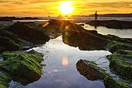 France, Brittany, Goulien, Tas de Pois, sunset - DSGF000236