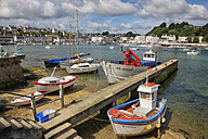 France, Brittany, Audierne, Boats at harbour - DSG000732