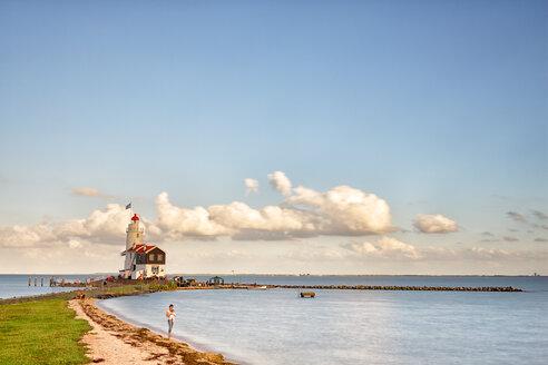 Netherlands, Waterland, Marken, Ijsselmeer, lighthouse Paard van Marken - DSG000766