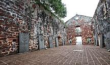 Malaysia, Malacca City, ruins of St. Paul's Church - DSG000796