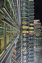 Malaysia, Kuala Lumpur, front of Petronas Twin Towers at night - DSG000305