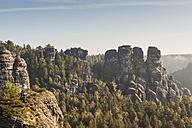 Germany, Saxony, Saxon Switzerland, National Park, Bastei rock formation - MJF001371