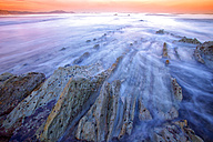 Spain, Biskaia Province, Barrika beach at sunset - DSGF000561