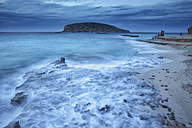Spain, Ibiza, Cala Comte at blue hour - DSGF000580