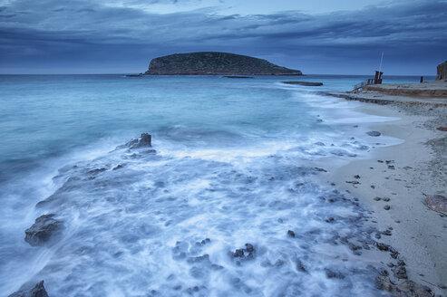 Spain, Ibiza, Cala Comte at blue hour - DSGF000580