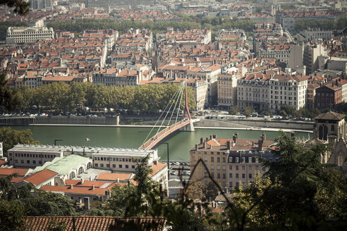 France, Department Rhone, Lyon, Cityscape, Saone river - SBDF001281