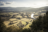 France, Savoy, Jongieux, Rhone Valley and Rhone river in late summer - SBDF001295