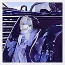 Vintage wedding car - GWF003163