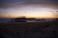 South Africa, Cape Town, Blaauwberg Beach at dusk - ZEF001179