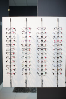 Assortment of glasses in an optician shop - ZEF001220