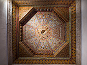 Morocco, Marrakesh-Tensift-El Haouz, Marrakesh, Bahia Palace, wooden ceiling decoration - AM002920