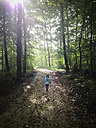 Girl in beech forest - LVF002032
