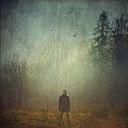 Man in fog - DWI000251