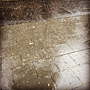 Rain on street and pavement - GWF003197