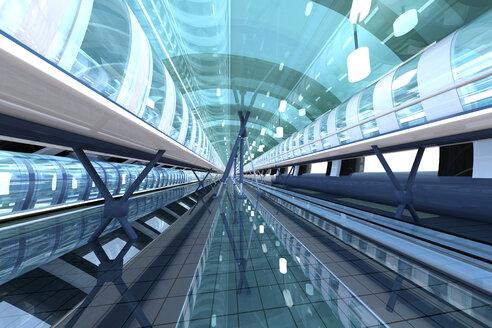 Futuristic passageway, 3D Rendering - SPCF000033