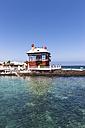 Spain, Canary Islands, Lanzarote, Punta de la Vela, Fishing village Arrieta, Blue House or Casa Juanita - AM002954