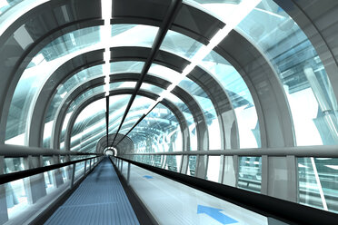 Futuristic passage of railway station, 3D Rendering - SPCF000036