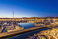 France, Provence-Alpes-Cote d'Azur, Department Var, Bandol, Marina in the evening - WDF002665