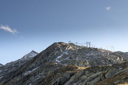 Austria, Salzburg State, Pinzgau, chair lift at Weisssee Gletscherwelt ski area - MKF000129