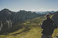 Austria, Tyrol, Tannheimer Tal, mature man hiking - UUF002309