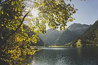 Austria, Tyrol, Tannheimer Tal, mountain lake - UUF002315