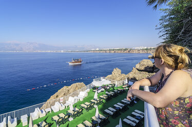 Turkey, Middle East, Antalya, Kaleici, View from hotel facilities to the harbour - THA000816