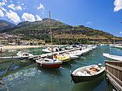 Italy, Sicily, Province of Trapani, Fishing village Castellammare del Golfo, Harbour - AMF003017