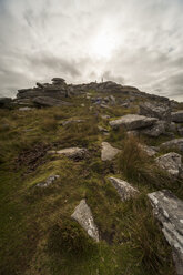 United Kingdom, England, Cornwall, Bodmin Moor, Rock formation Rough Tor - PAF001026