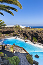 Spain,Canary Islands, Lanzarote, Jameos del Agua, swimming pool in lava cave - AM003099