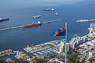 Gibraltar, Harbour and flag in the foreground - KB000206
