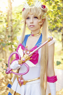Portrait of woman wearing costume of Pretty Guardian Sailor Moon - AFF000094
