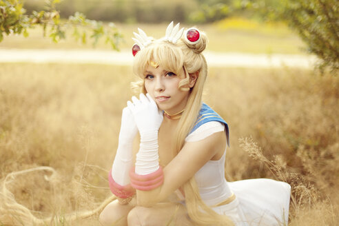 Portrait of woman wearing costume of Pretty Guardian Sailor Moon - AFF000091