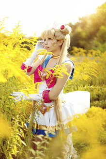 Woman wearing costume of Pretty Guardian Sailor Moon - AFF000099