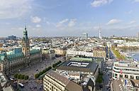 Germany, Hamburg, cityscape with city hall - RJF000341