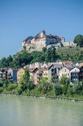Germany, Bavaria, Burghausen, Old town, Castle complex, Salzach river - OPF000024