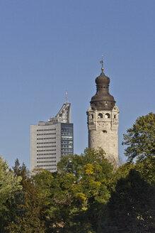 Germany, Saxony, Leipzig, New City Hall and University Tower - MEL000040