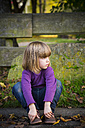 Little girl waiting at wayside - LVF002076