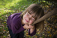 Portrait of girl in autumnal forest - LVF002080