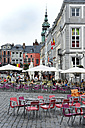 Belgium, Wallonia, Hainaut, Mons, Historic city centre, Houses at the Grand Place square - MIZ000631