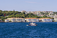 Turkey, Istanbul, Cityscape and fishing boat in the foreground - THAF000807