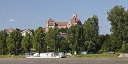 Germany, Baden-Wuerttemberg, Breisach, Upper Rhine river, View to Breisach Minster - WIF001131