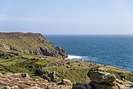 United Kingdom, England, Cornwall, Land's End, Rocky coast at Englisch Chanel - FRF000064