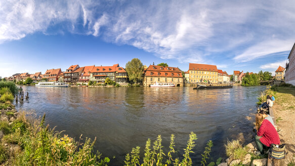 Germany, Bavaria, Bamberg, Little Venice at Regnitz river - PU000139