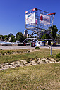 Turkey, Izmir, Aegean Region, Huge shopping cart at Park - THA000849