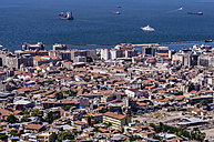 Turkey, Izmir, Aegean Region, View to harbour - THAF000832